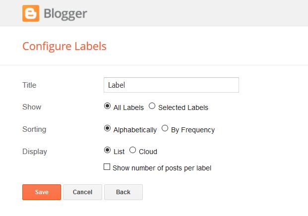 Cara Menambah Category Blogspot