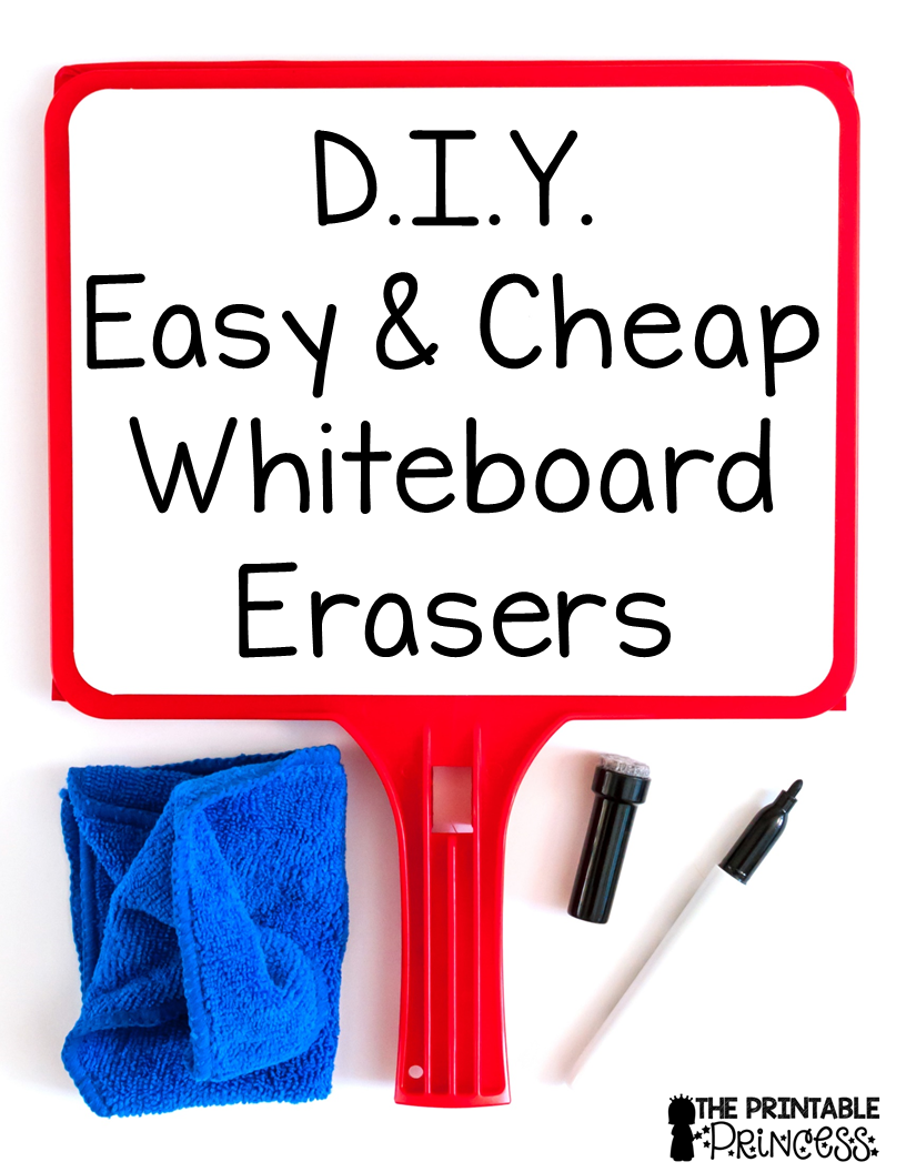 image about Printable Whiteboard identified as Do it yourself Very simple and Economical Erasers for Whiteboards The Printable