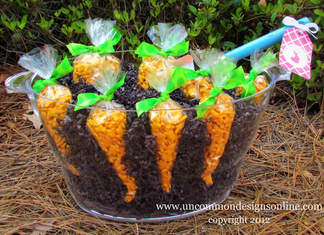 Create a Carrot Patch Easter Treat! No candy! #easter #eastertreat #carrot #kidsactivities