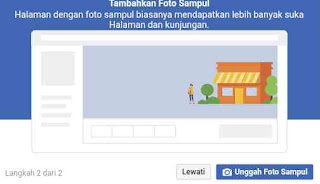 Tambah dan Unggah sampul photo ke halaman facebook