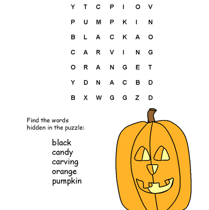 printable halloween word search 3 - Printable Halloween Word Searches
