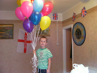 helium filled balloons of all colours
