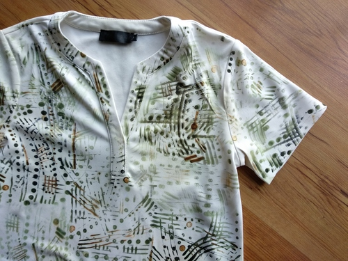 Upcycled t-shirt using sublimation techniques