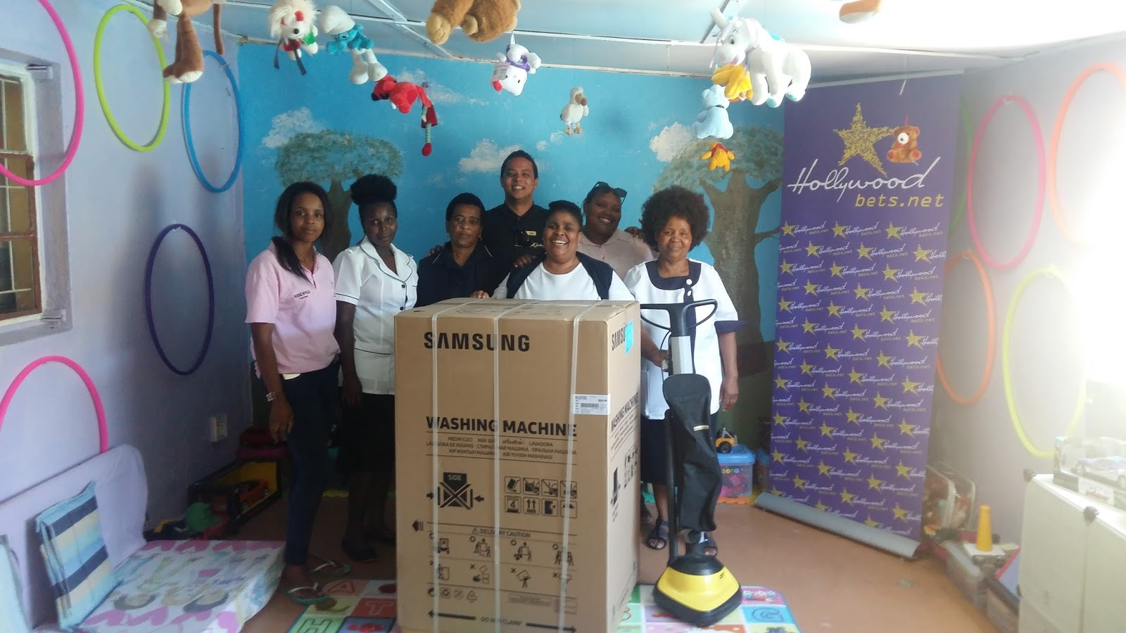 Sive Nathi Children's Home staff are thankful for a donation from Hollywoodbets Dunoon