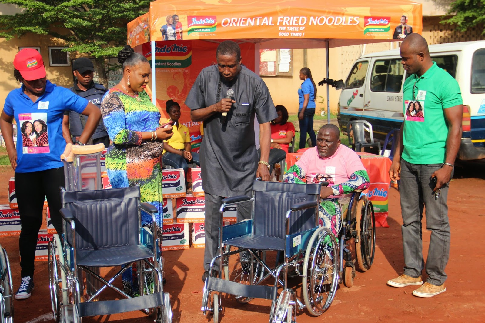wheelchair jumia target chair covers in store photos aneke twins celebrates birthday with orphans
