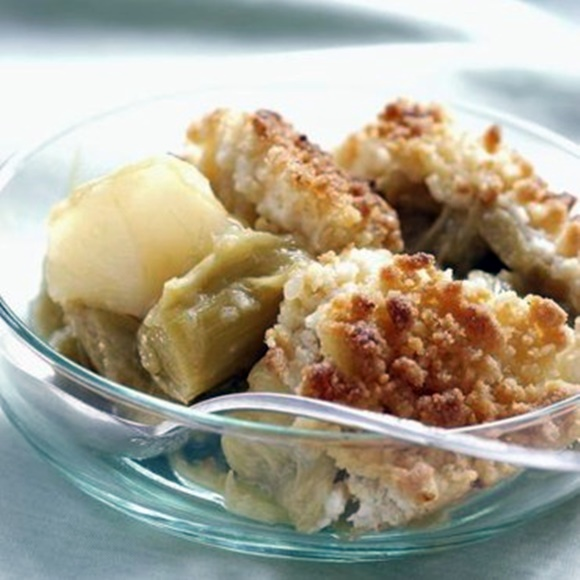 Crumble Pomme Et Rhubarbe