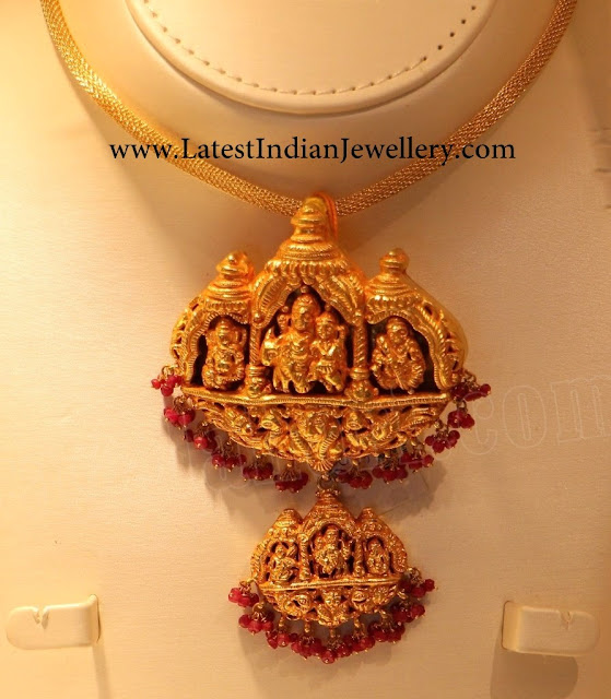 Huge Temple Jewellery Pendant