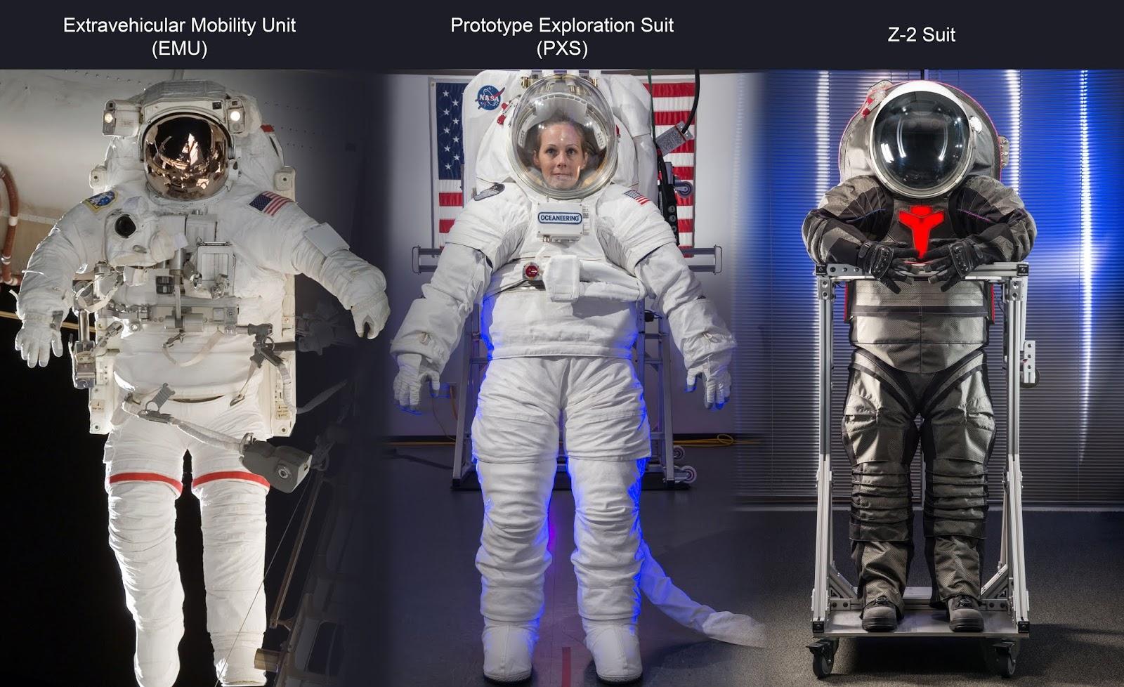 Supostos trajes da NASA ao longo de quarenta anos