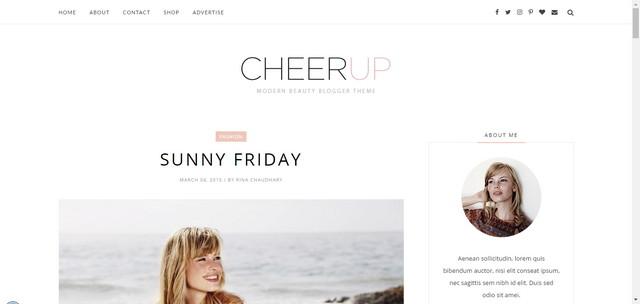CheerUp Minimalist Responsive Blogger Templates