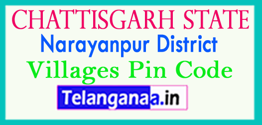 Narayanpur District Pin Codes in Chattisgarh State