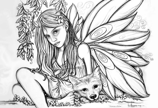 Fairy Coloring Pages  Dr Odd Throughout Awesome Dolphin Coloring Pages