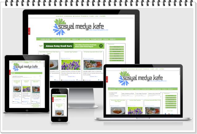 mobil uyumlu blog tasarımı sosyal medya kafe