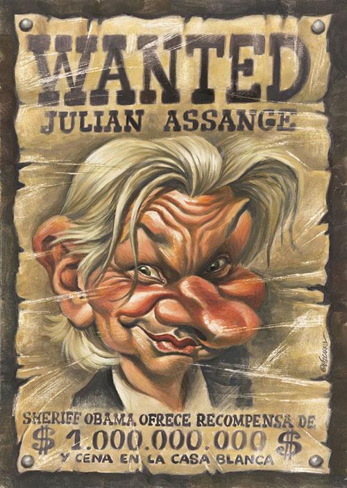 Julian Assange por Joan Vizcarra