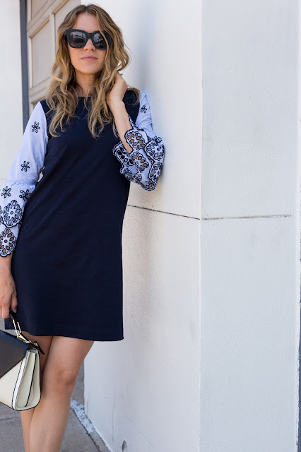 Statement Sleeve Sheath Dress