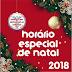 Horário de Natal 2018