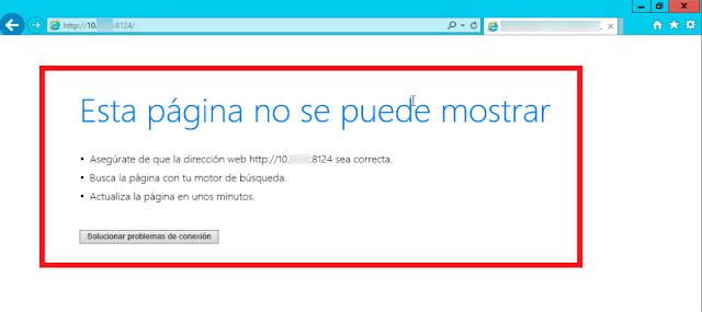 Windows 2012 R2:   Crear una regla de  firewall para permitir  las conexiones entrantes  a un puerto - Puerto Cerrado.
