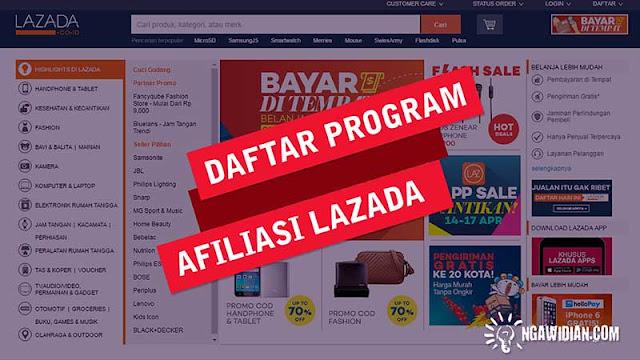 Daftar di Program Afiliasi Lazada