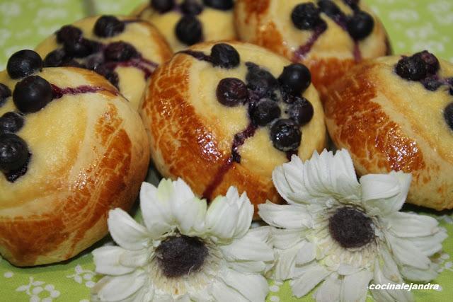 Mustikkaapiirat Pastelillos finlandeses de arándanos