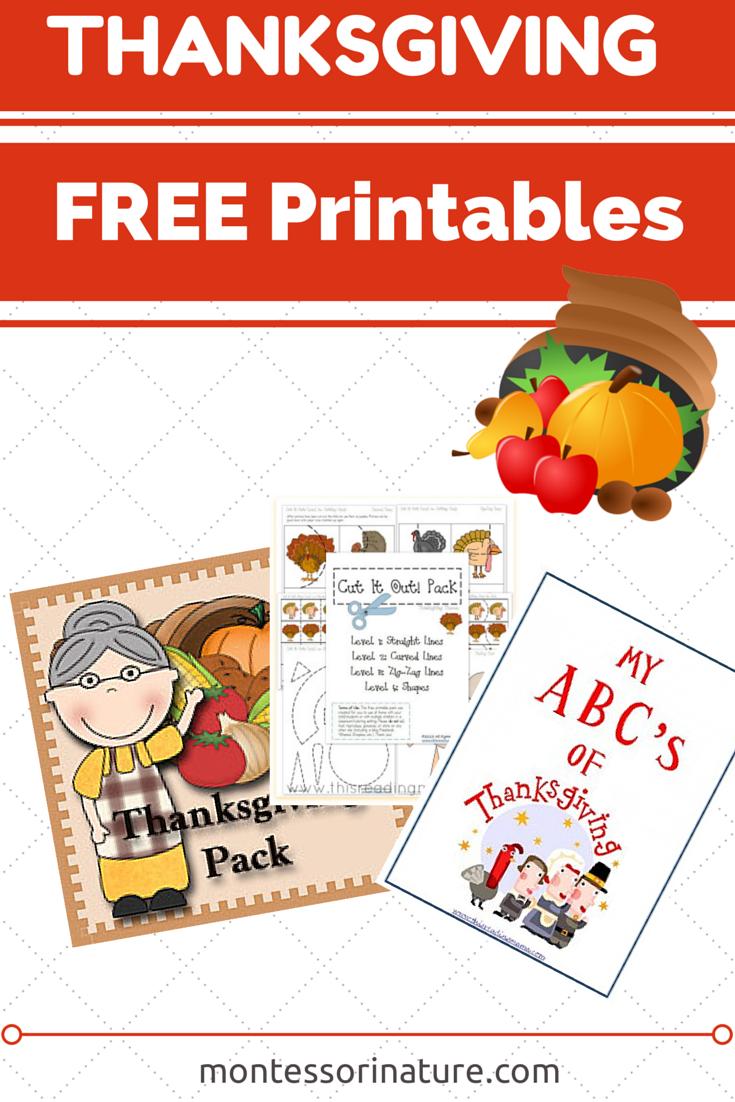 FREE%2B(3) - Thanksgiving Worksheets Kindergarten