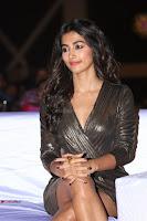 Pooja Hegde looks glamarous in deep neck sleevless short tight golden gown at Duvvada Jagannadham thank you meet function 068.JPG