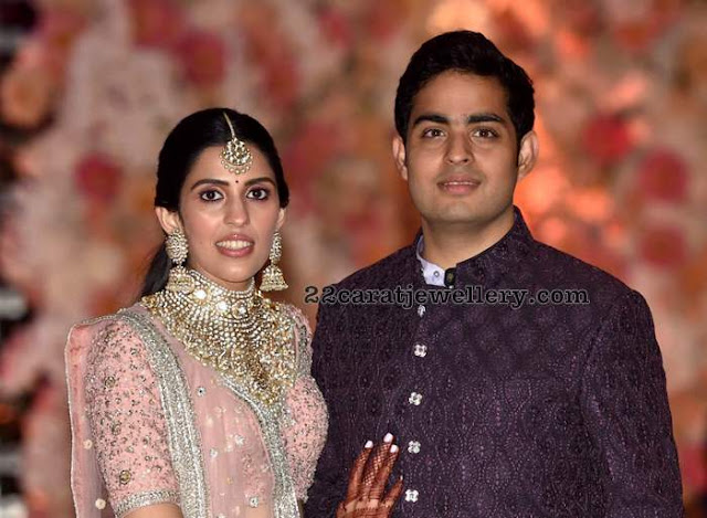 Akash Ambani Sloka Mehta Engagement