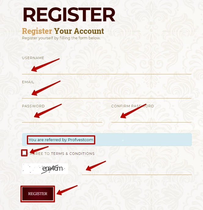 Регистрация в Al-Royale 2