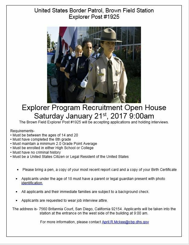 Sweetwater High Counseling Center: Border Patrol Explorers