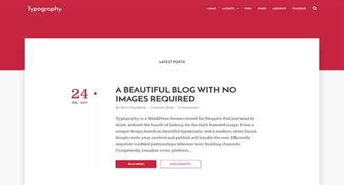 Typography Text Based Minimal Blogger Template