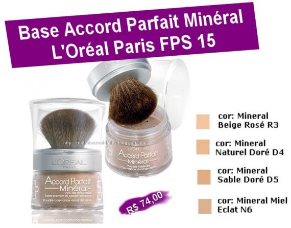 ACCORD PARFAIT MINÉRAL L'OREAL PARIS
