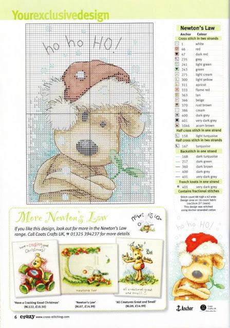 Mais de 50 Ideias Para Decorar No Natal. cachorrinhos Em Ponto Cruz Com Diagramas