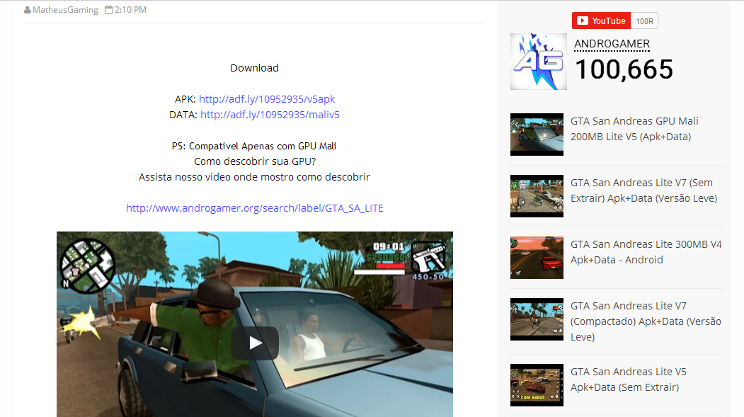 Cara download gta sa lite android | Download GTA SA Lite