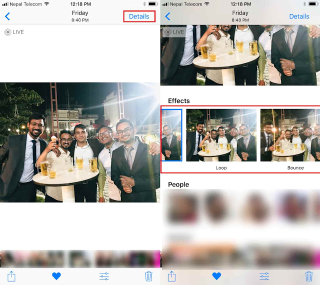 Here's easy guide on how to use Live Photo Effects in iOS 11 on iPhone along with setting new key photo and trim live photos.