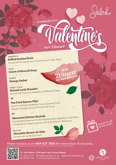 Romantic Evening Dinner with Urban Sunset View & Executive Suite Stay during Valentine @ Olive Tree Hotel