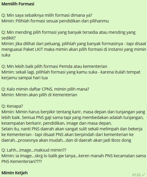 Pilih Formasi CPNS Pemda atau Kementerian