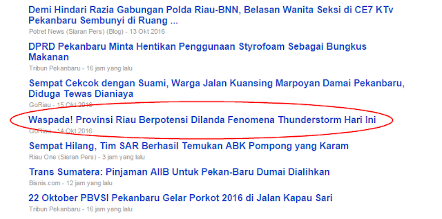 Berita Riau Terkini Hari Ini, Senin, 17 Oktober 2016