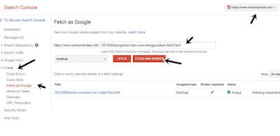 Pengertian dan Cara Menggunakan Fetch as Google Pengganti Submit Url