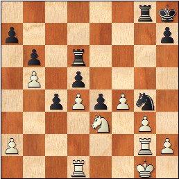 Partida de ajedrez O'Kelly - Francino, posición después de 38...Cg4!