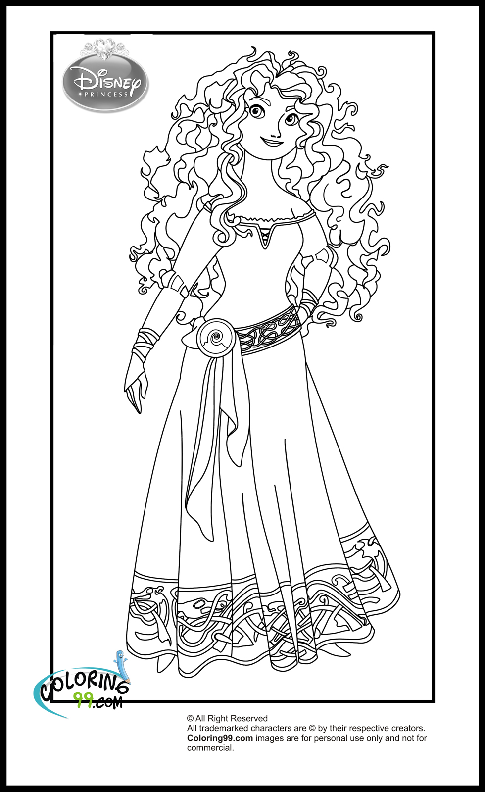 Fans Request - Disney Princess with Merida from Brave ... | coloring pages for disney princesses