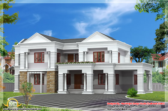 3300 square feet Indian style house elevation