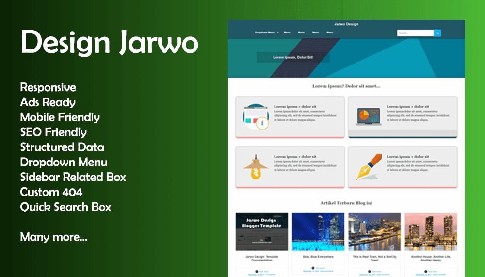 Design Jarwo Premium Blogger Template