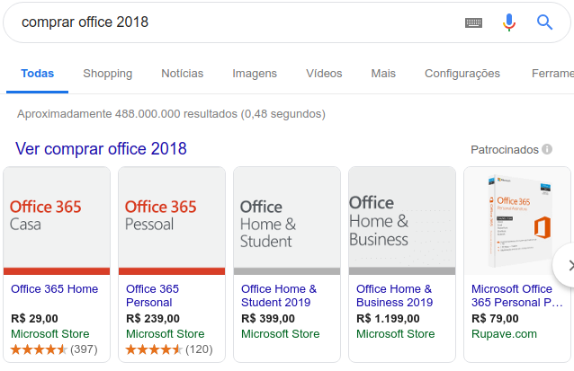 comprar office 2018