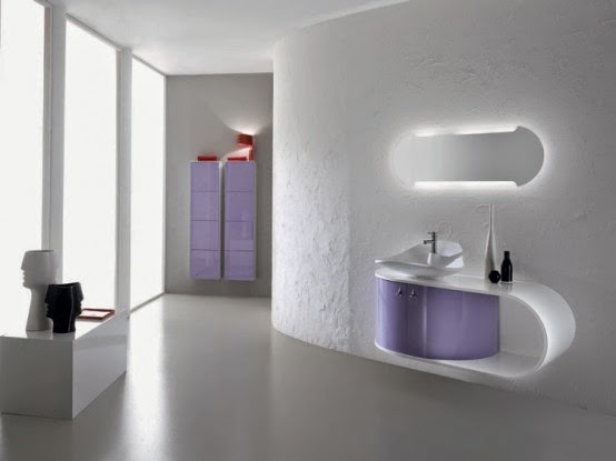 pastel purple bathroom