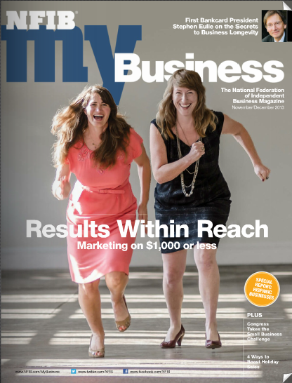 Flock and Rally - cover of NFIB MyBusiness Magazine, November 2013