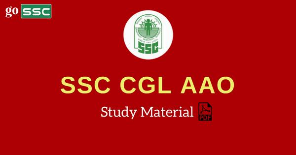 Ssc Cgl Study Materials Pdf