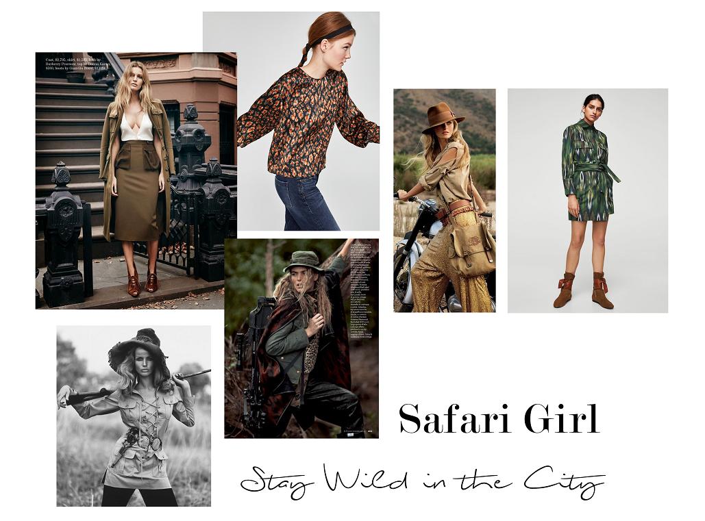 Styl safari w miejskich stylizacjach