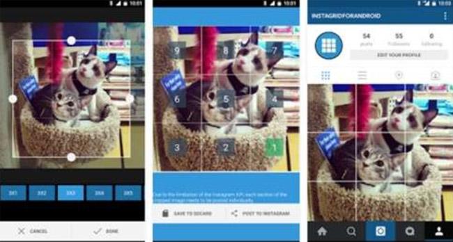 Contoh membuat foto grid di Instagram