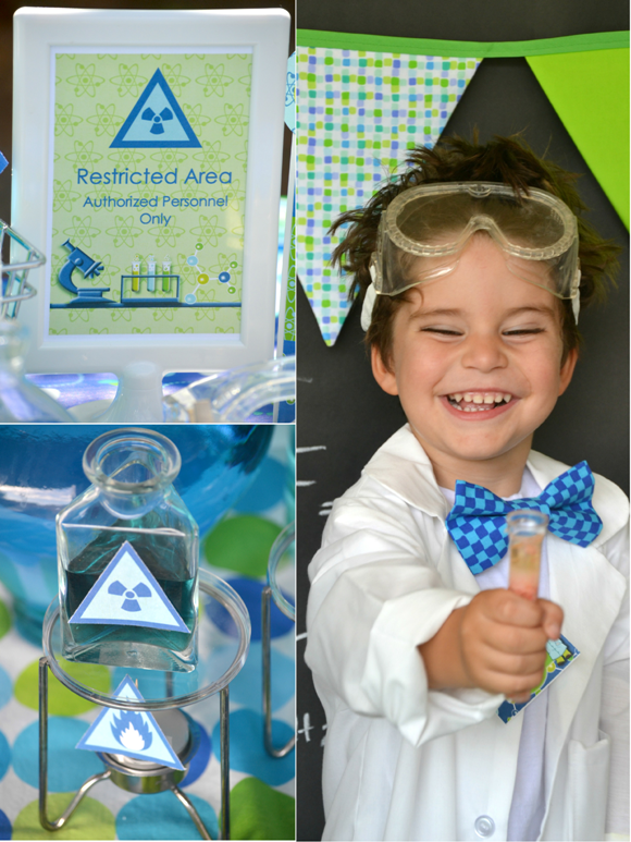 Kids Party Ideas: A Mad Scientist Science Birthday - BirdsParty.com