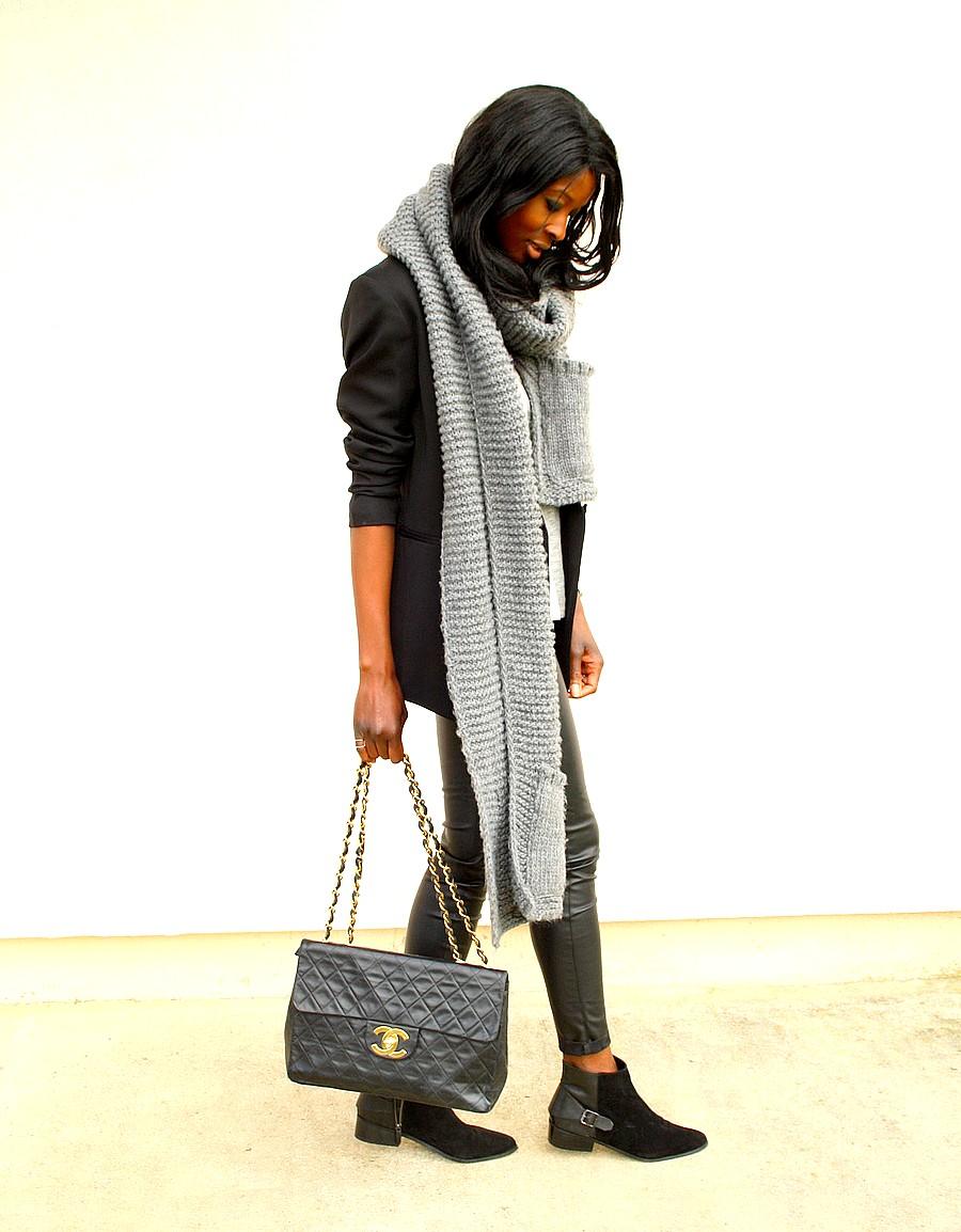 Chanel-maxi-jumbo-vintage-pantalon-cuir-boots-chelsea-working-girl