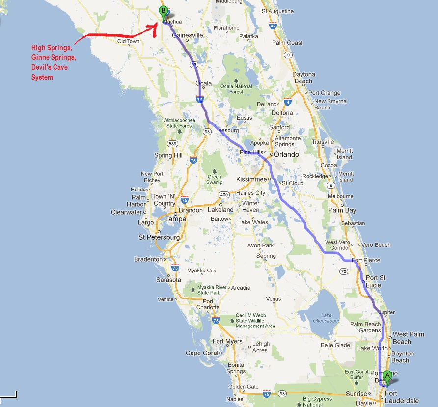Ginnie Springs Florida Map States of Immersion   A Florida Cave Diving Adventure: Ginnie