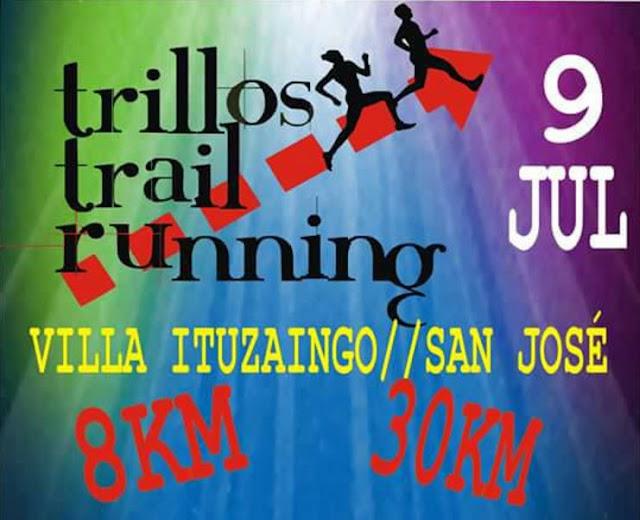 30k y 8k Trillos trail running en Villa Ituzaingó (San José, 09/jul/2017)